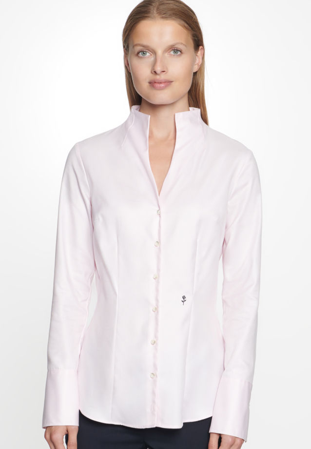 Long arm Twill Chalice Blouse made of 100% Cotton in rosé n |  Seidensticker Onlineshop