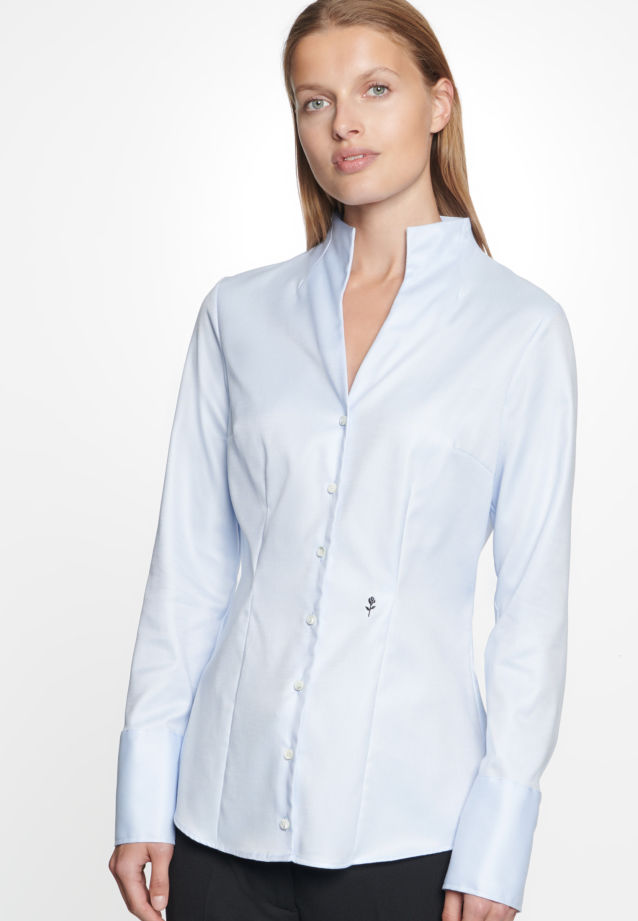 Long arm Twill Chalice Blouse made of 100% Cotton in bleu |  Seidensticker Onlineshop