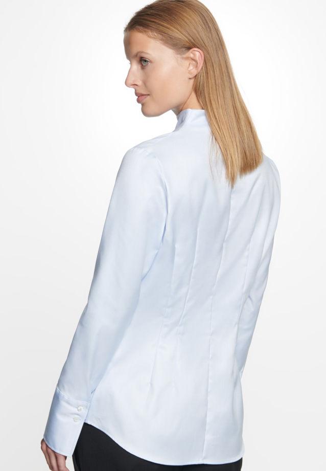 Twill Kelchkragenbluse aus 100% Baumwolle in bleu |  Seidensticker Onlineshop
