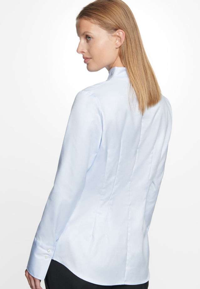 Long arm Twill Chalice Blouse made of 100% Cotton in Light blue |  Seidensticker Onlineshop