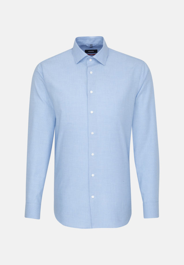 Easy-iron Pepita/tooth-peg check Business Shirt in Modern with Kent-Collar in Light blue |  Seidensticker Onlineshop