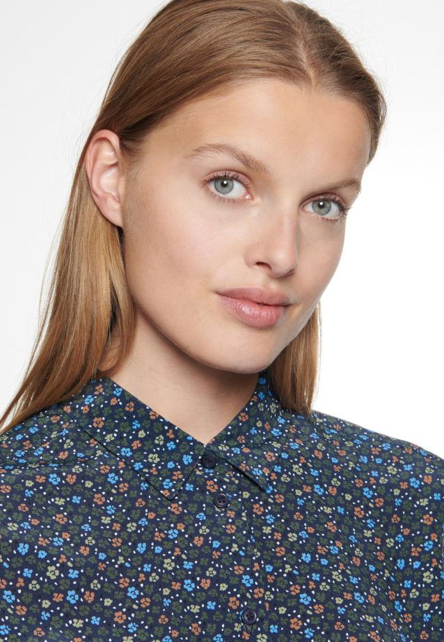 Chiffon Hemdbluse aus 100% Viskose in blau |  Seidensticker Onlineshop