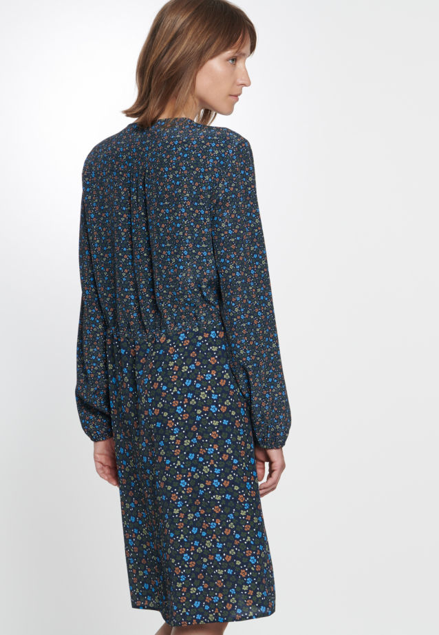 Chiffon Dress made of 100% Viskose in Dark blue |  Seidensticker Onlineshop