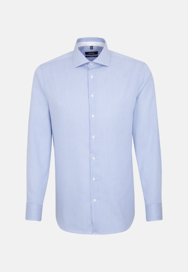 Non-iron Twill Business Shirt in Tailored with Kent-Collar and extra long arm in Light blue |  Seidensticker Onlineshop