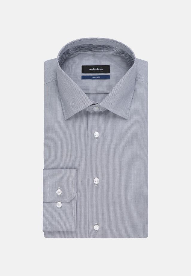 Bügelfreies Popeline Business Hemd in Tailored mit Kentkragen und extra langem Arm in dunkelblau |  Seidensticker Onlineshop