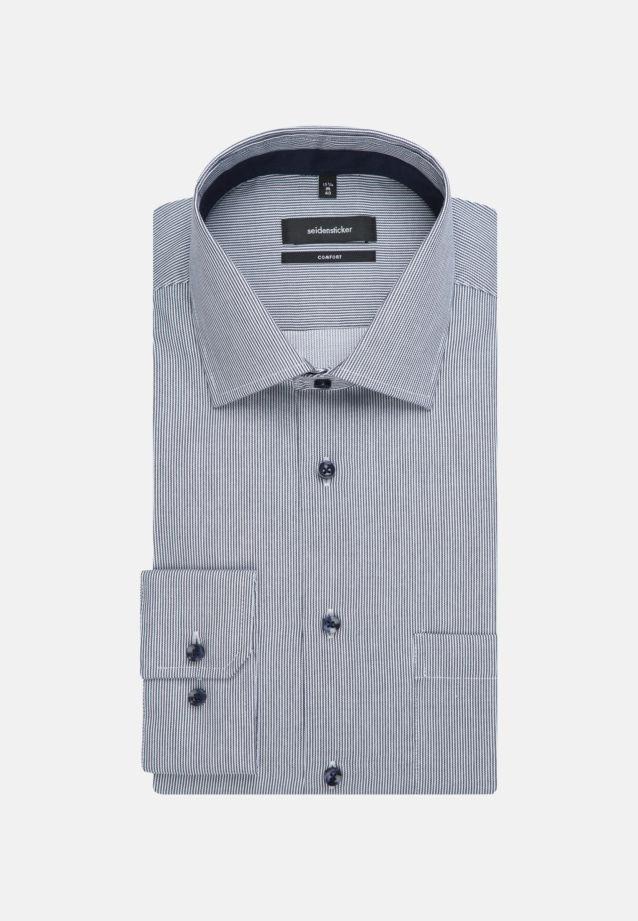 Bügelfreies Twill Business Hemd in Comfort mit Kentkragen in blau    Seidensticker Onlineshop
