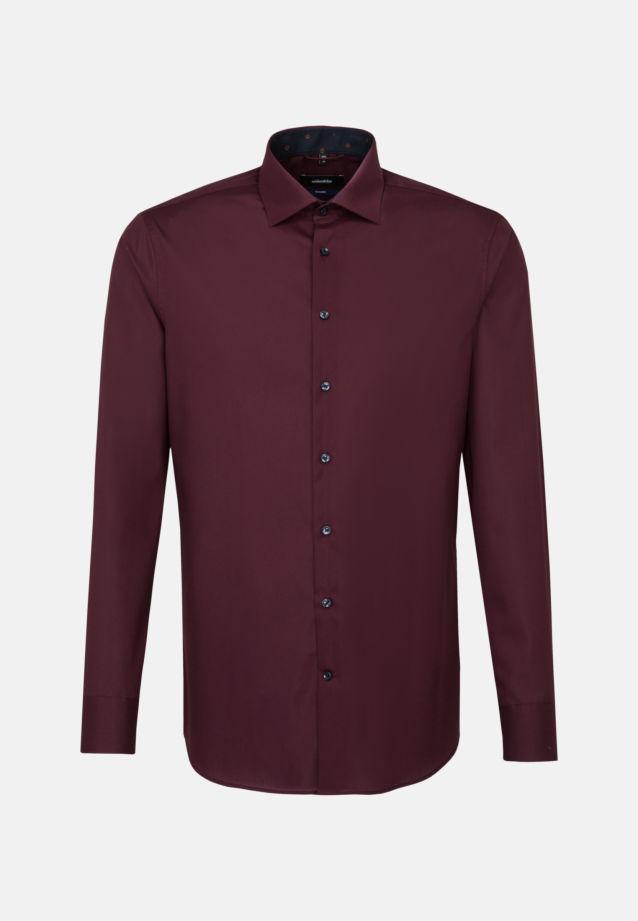 Bügelfreies Popeline Business Hemd in Tailored mit Kentkragen in dunkelrot |  Seidensticker Onlineshop