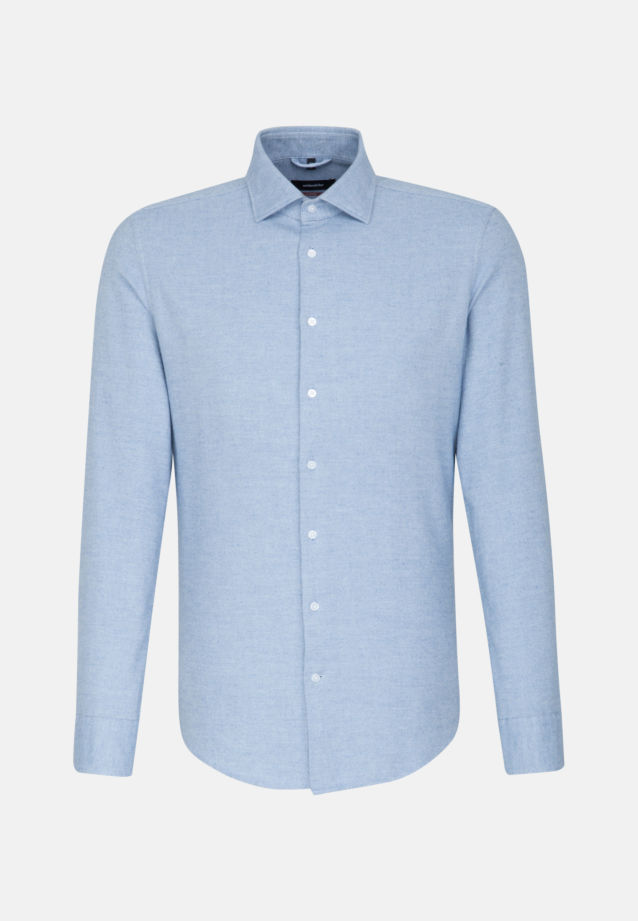 Easy-iron Oxford Business Shirt in Modern with Kent-Collar in Light blue |  Seidensticker Onlineshop