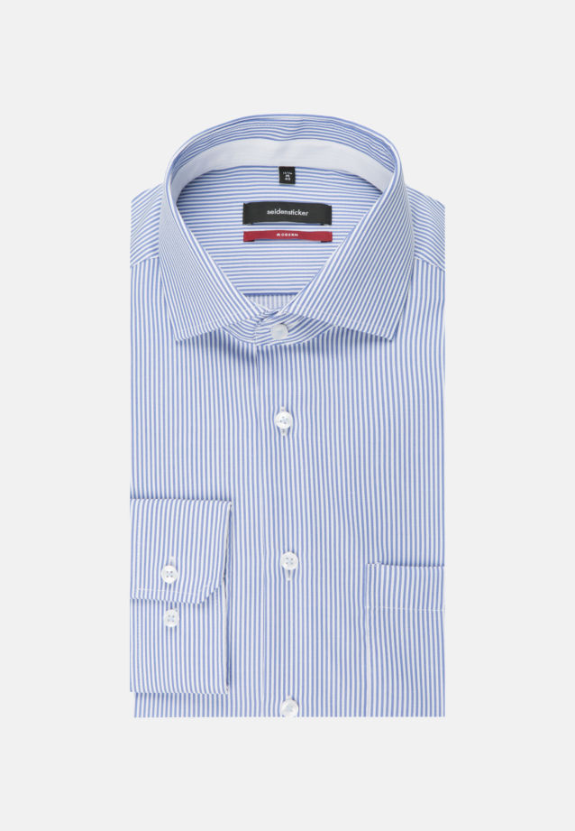 Non-iron Twill Business Shirt in Regular with Kent-Collar and extra long arm in Light blue |  Seidensticker Onlineshop
