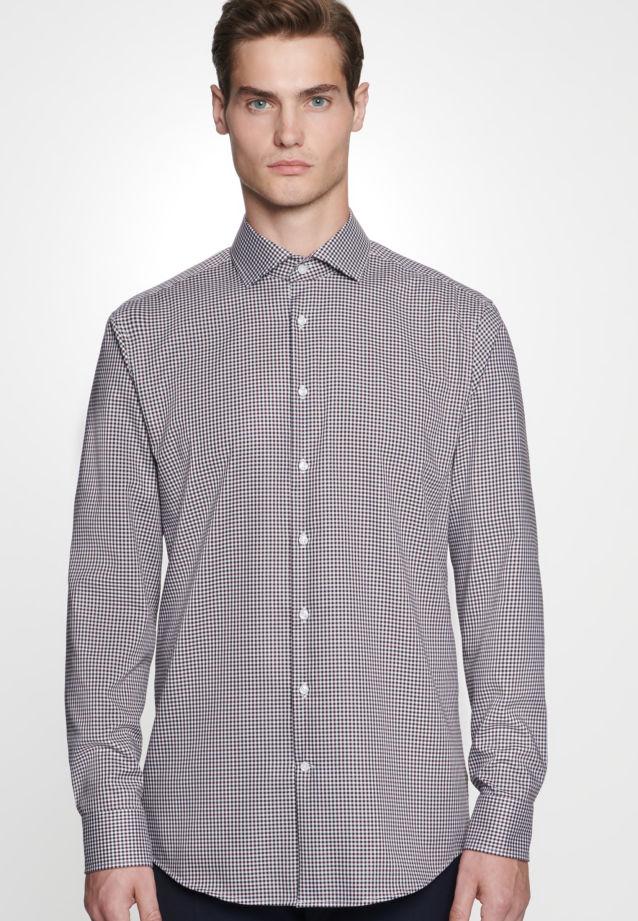 Bügelfreies Twill Business Hemd in Comfort mit Kentkragen in rot    Seidensticker Onlineshop