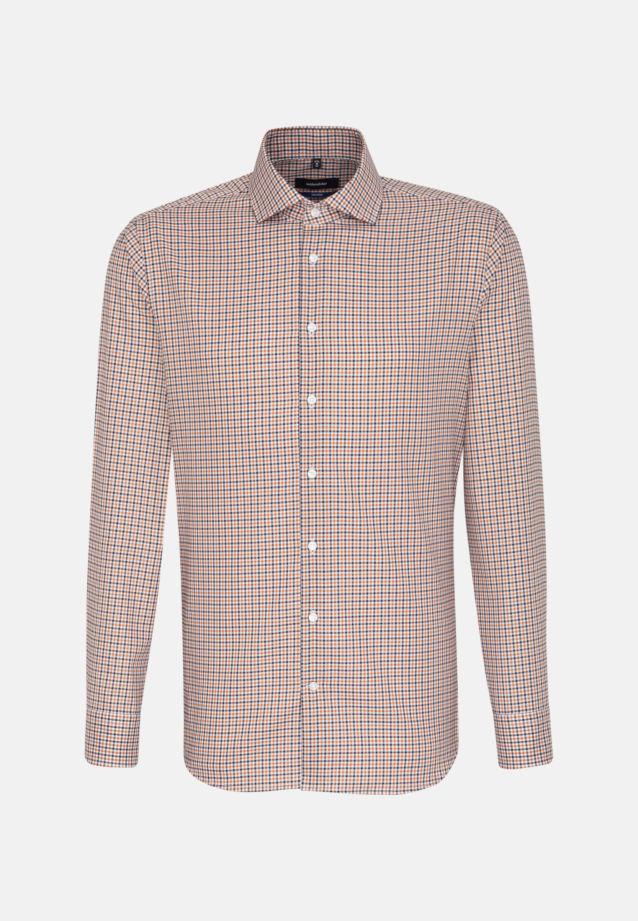 Non-iron Twill Business Shirt in Shaped with Kent-Collar in Orange |  Seidensticker Onlineshop