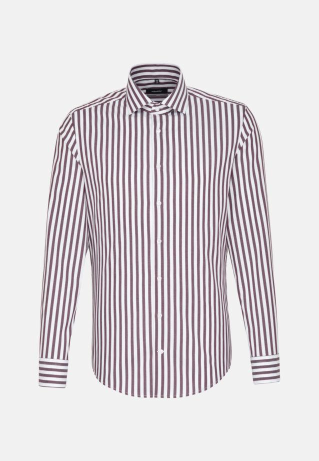 Bügelfreies Twill Business Hemd in X-Slim mit Kentkragen in rot    Seidensticker Onlineshop