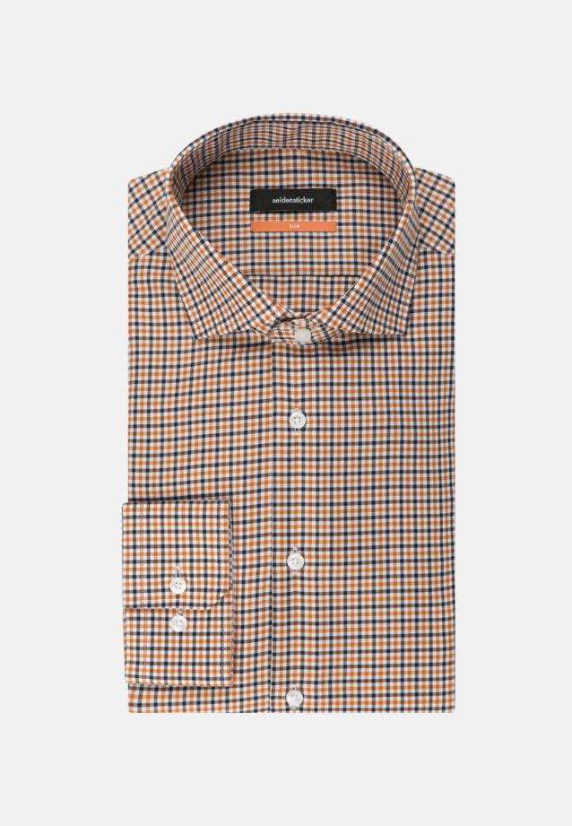 Non-iron Twill Business Shirt in Slim with Kent-Collar in Orange |  Seidensticker Onlineshop