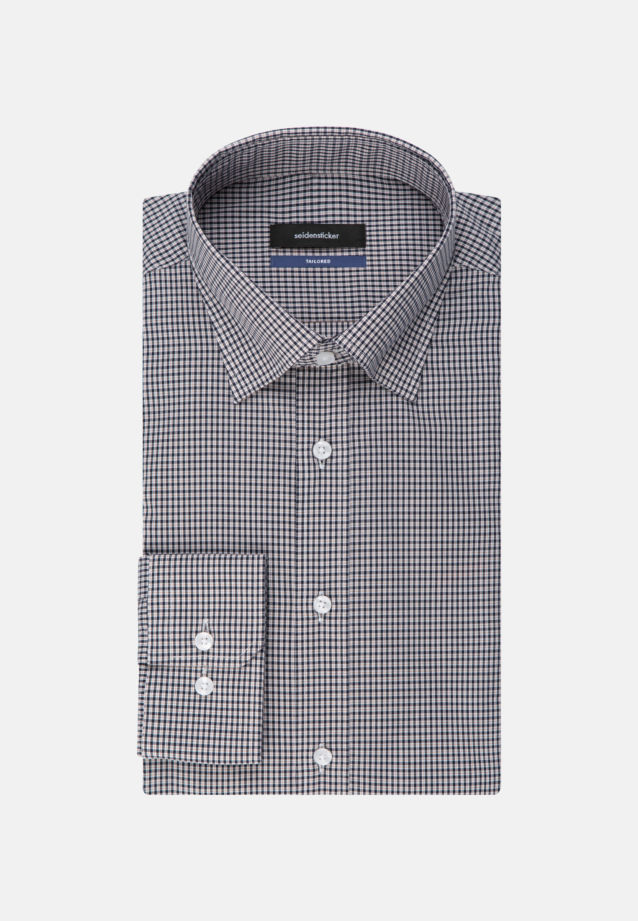 Non-iron Poplin Business Shirt in Shaped with Covered-Button-Down-Collar in Orange |  Seidensticker Onlineshop