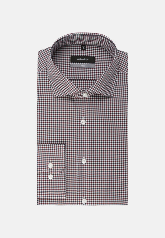 Non-iron Twill Business Shirt in X-Slim with Kent-Collar in Red |  Seidensticker Onlineshop