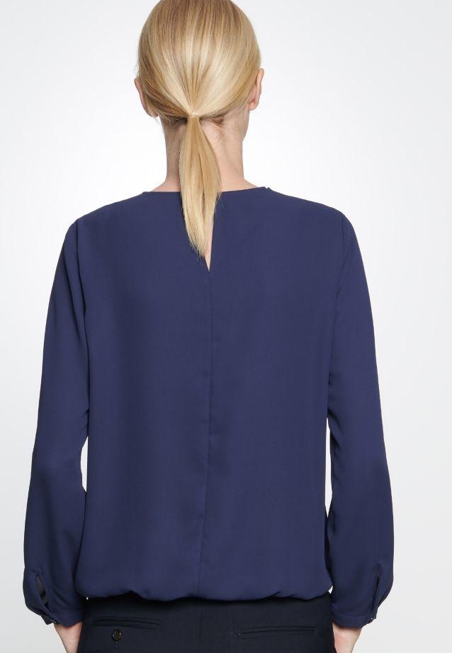 Crepe Shirt Blouse made of 100% Polyester in marine |  Seidensticker Onlineshop