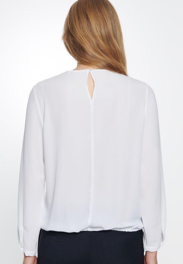 Crepe Shirt Blouse made of 100% Polyester in weiß |  Seidensticker Onlineshop