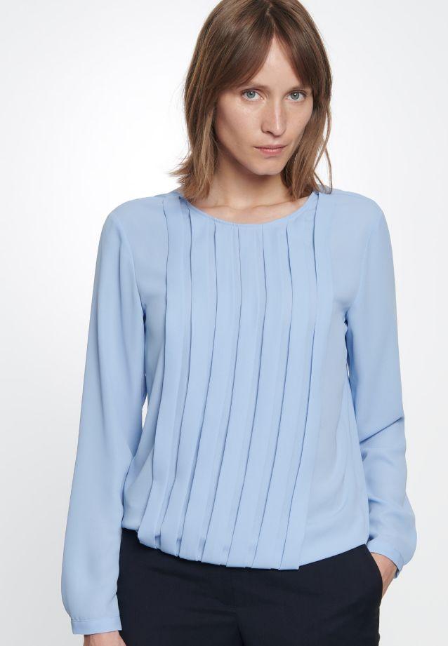 Crepe Shirt Blouse made of 100% Polyester in hellblau |  Seidensticker Onlineshop