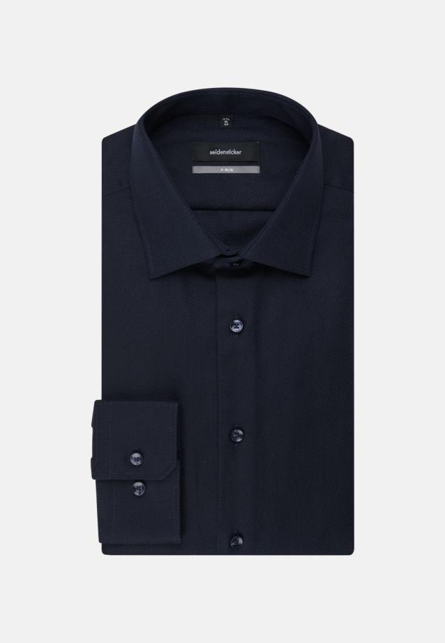 Easy-iron Structure Business Shirt in X-Slim with Kent-Collar in Dark blue |  Seidensticker Onlineshop