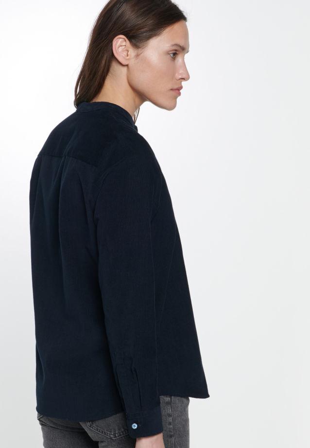 Cord Stehkragenbluse aus 100% Baumwolle in Dark Sapphire |  Seidensticker Onlineshop