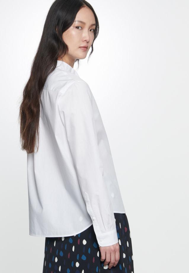 Voile Schluppenbluse aus 100% Baumwolle in Optical White |  Seidensticker Onlineshop