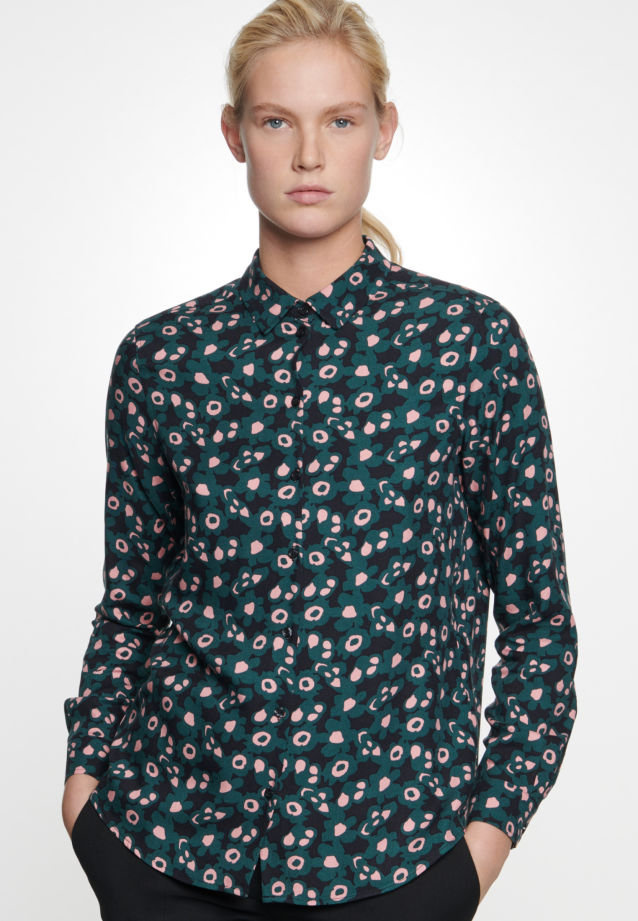 Twill Shirt Blouse made of 100% Viscose in Green |  Seidensticker Onlineshop