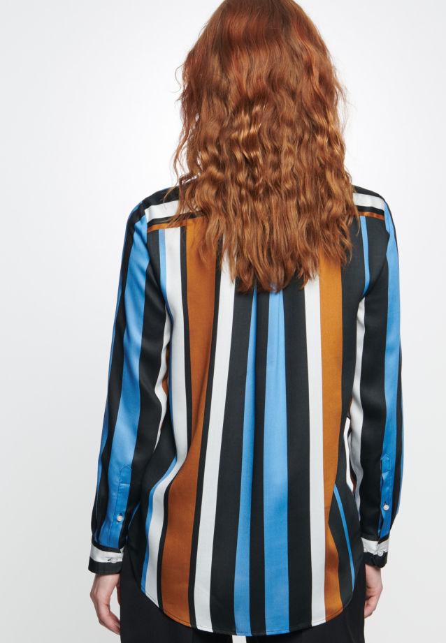 Satin Hemdbluse aus 100% Viskose in blau |  Seidensticker Onlineshop