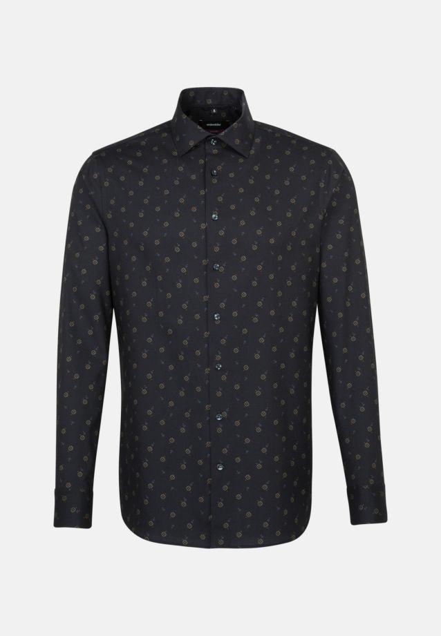 Easy-iron Twill Business Shirt in Modern with Kent-Collar in anthra |  Seidensticker Onlineshop