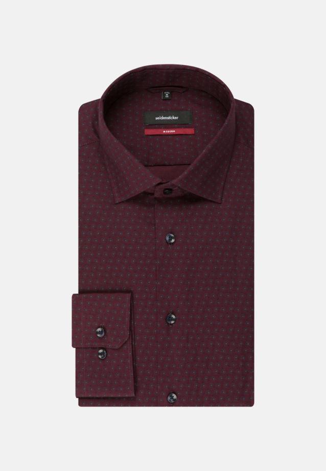 Easy-iron Twill Business Shirt in Modern with Kent-Collar in bordeaux |  Seidensticker Onlineshop