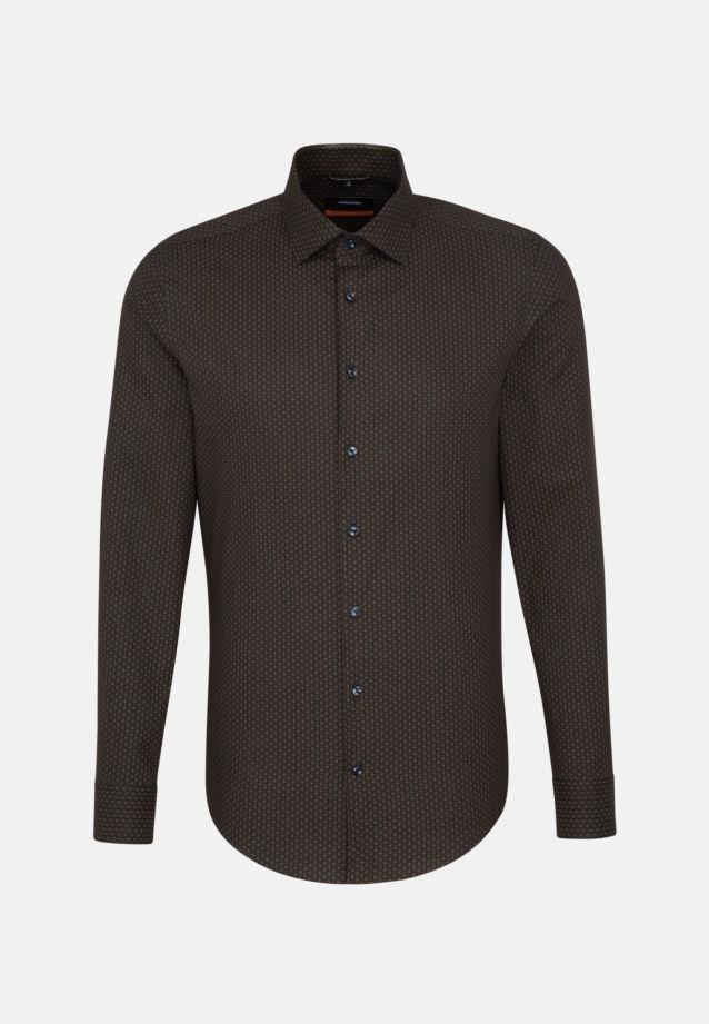 Easy-iron Twill Business Shirt in Slim with Kent-Collar in anthra    Seidensticker Onlineshop