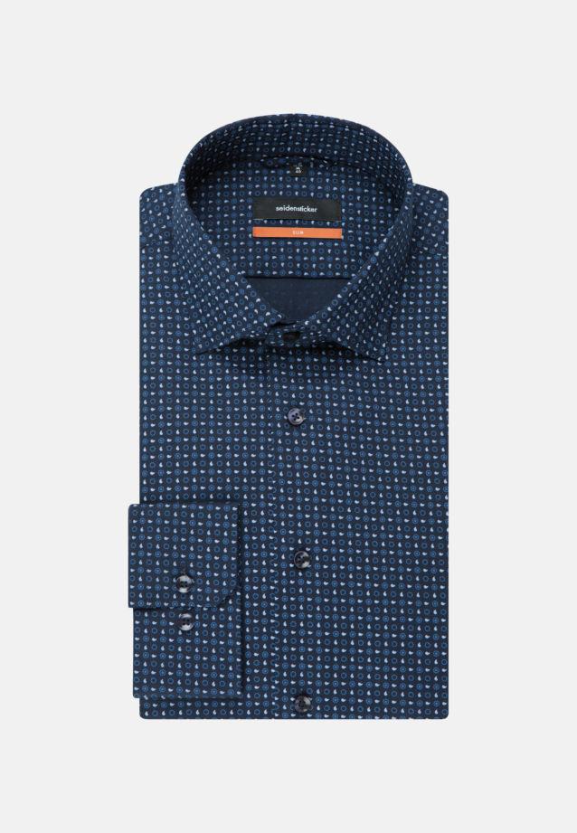 Easy-iron Twill Business Shirt in Slim with Kent-Collar in dunkelblau    Seidensticker Onlineshop