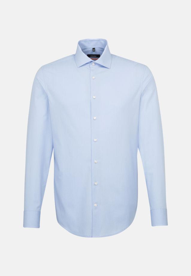 Easy-iron Poplin Business Shirt in Slim with Kent-Collar in blau    Seidensticker Onlineshop