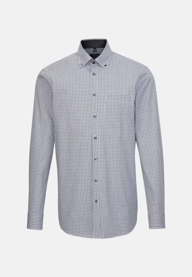 Non-iron Poplin Business Shirt in Regular with Button-Down-Collar in Grey |  Seidensticker Onlineshop