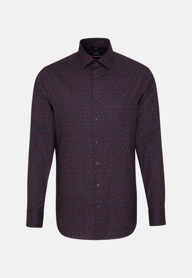 Easy-iron Twill Business Shirt in Slim with Kent-Collar in bordeaux    Seidensticker Onlineshop