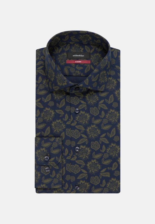 Bügelleichtes Twill Business Hemd in Modern mit Kentkragen in Grün |  Seidensticker Onlineshop