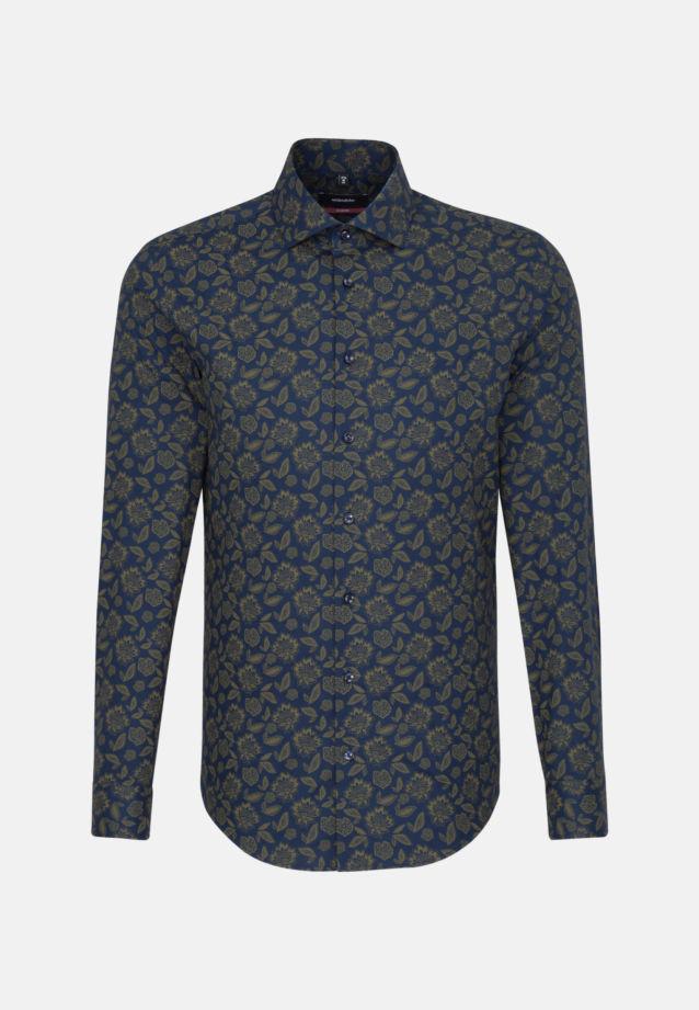 Easy-iron Twill Business Shirt in Regular with Kent-Collar in Green |  Seidensticker Onlineshop