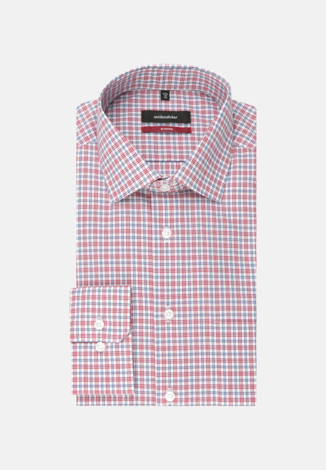 Non-iron Poplin Business Shirt in Regular with Kent-Collar and extra long arm in Red |  Seidensticker Onlineshop