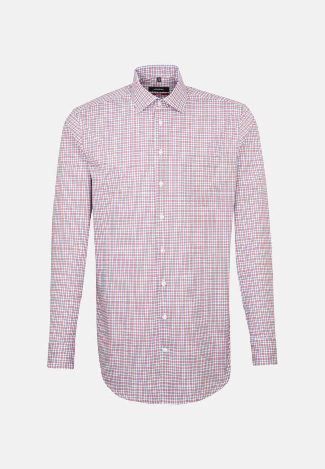 Non-iron Poplin Business Shirt in Modern with Kent-Collar and extra long arm in Red |  Seidensticker Onlineshop