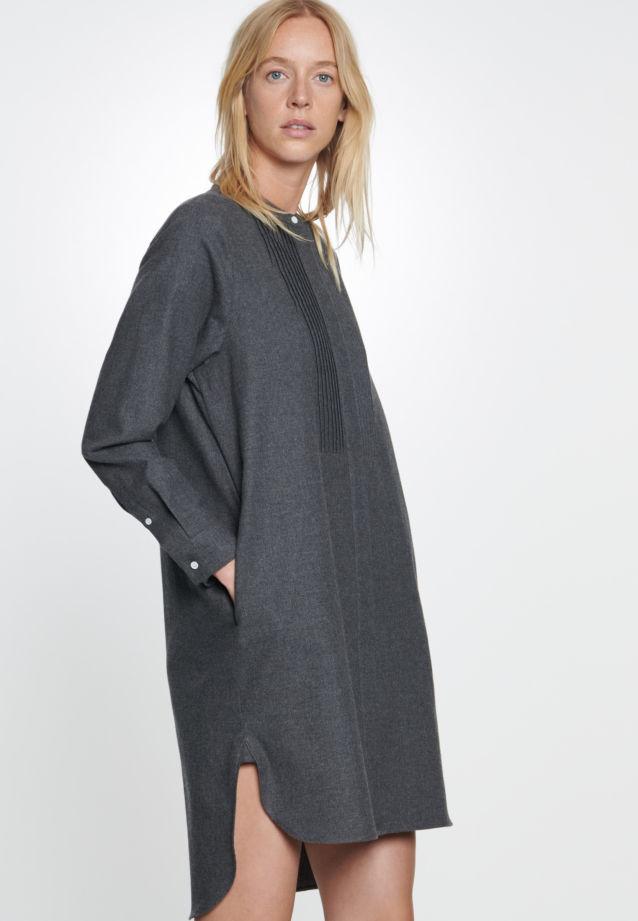 Flannel Dress made of 100% Cotton in dunkelgrau |  Seidensticker Onlineshop