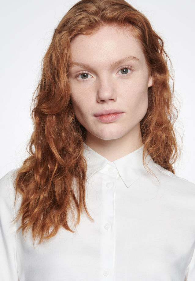 Twill Shirt Blouse made of 100% Viskose in White |  Seidensticker Onlineshop