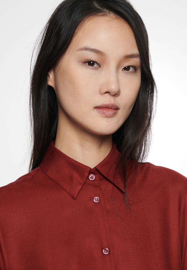 Twill Shirt Blouse made of 100% Viskose in Red |  Seidensticker Onlineshop