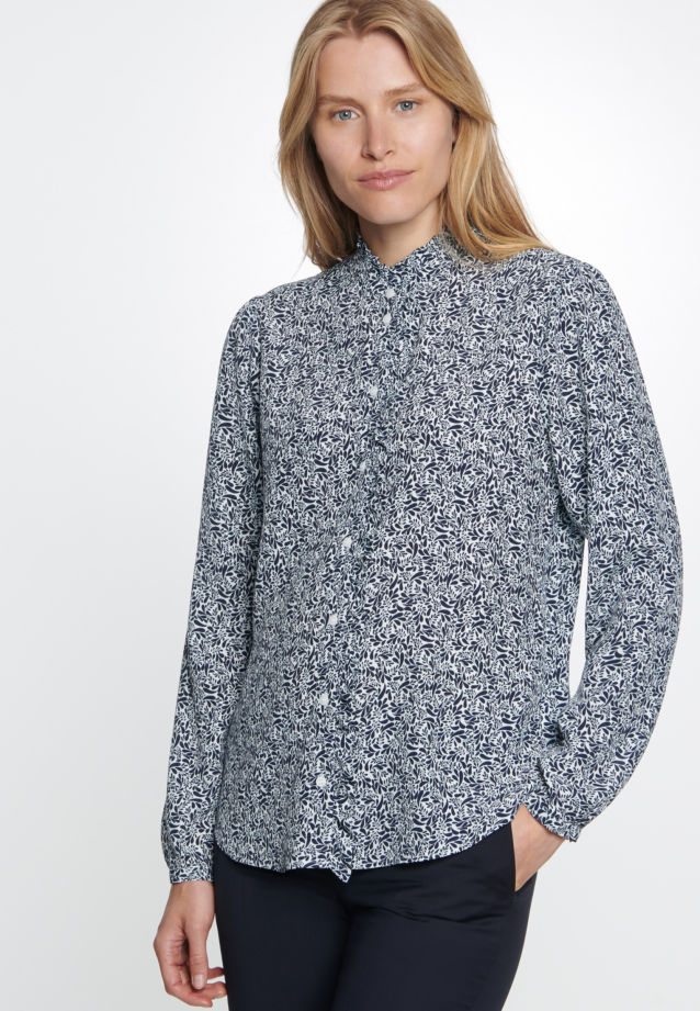 Crepe Stand-Up Blouse made of 100% Viscose in Ecru |  Seidensticker Onlineshop