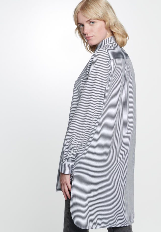 Satin Longbluse aus 100% Baumwolle in opt. white |  Seidensticker Onlineshop