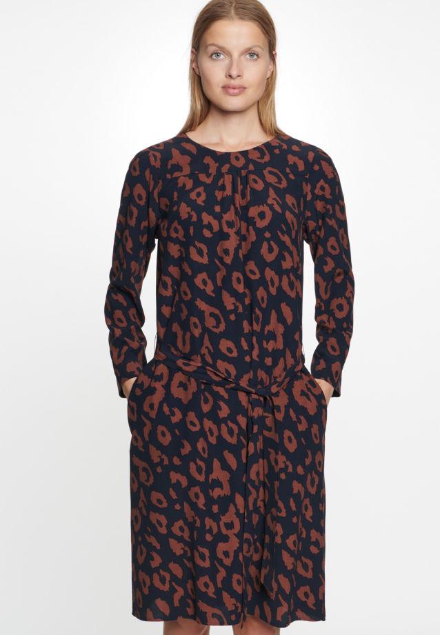 Crepe Dress made of 100% Viskose in blau |  Seidensticker Onlineshop