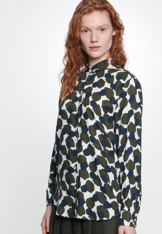 Twill Hemdbluse aus 100% Viskose in offwhite |  Seidensticker Onlineshop