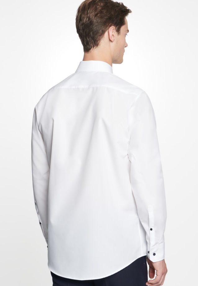 Non-iron Poplin Business Shirt in Modern with Kent-Collar in weiß |  Seidensticker Onlineshop