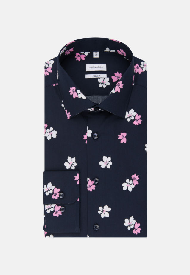 Easy-iron Poplin Business Shirt in Regular with Kent-Collar in Pink |  Seidensticker Onlineshop