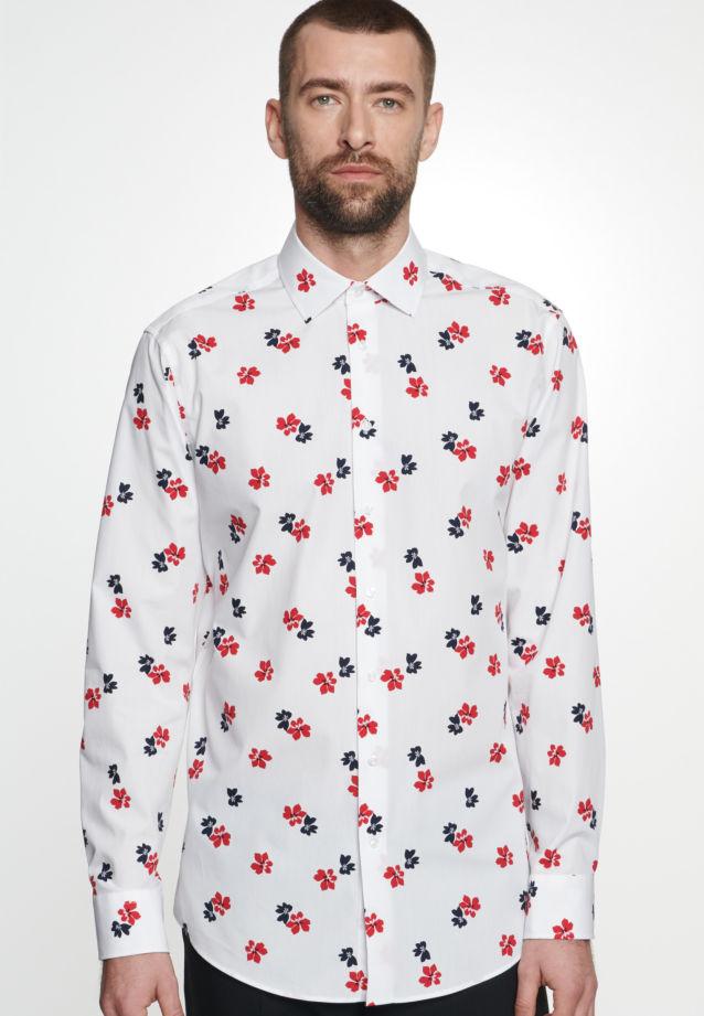 Bügelleichtes Popeline Business Hemd in Regular mit Kentkragen in Weiß |  Seidensticker Onlineshop