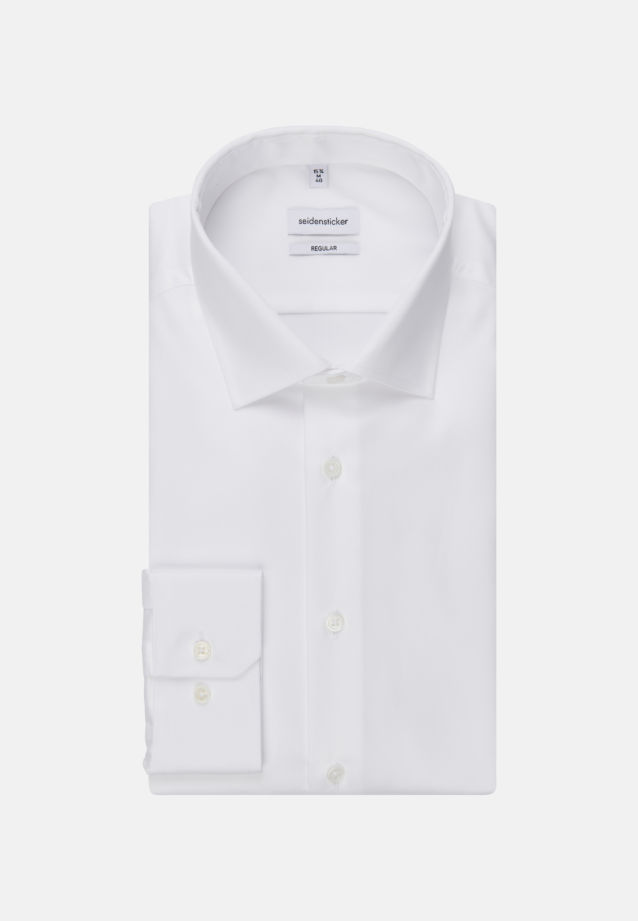 Easy-iron Twill Business Shirt in Modern with Kent-Collar in weiß |  Seidensticker Onlineshop