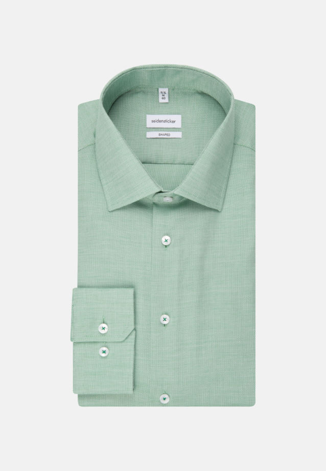Non-iron Structure Business Shirt in Shaped with Kent-Collar in Green |  Seidensticker Onlineshop